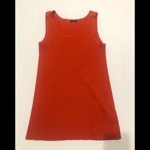 ☀️ Magaschoni silk cashmere tank top orange L